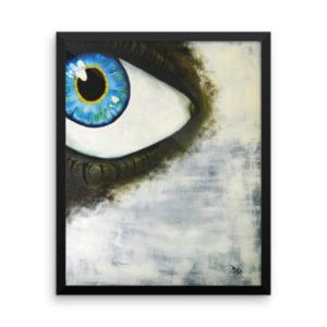 mine eye framed poster