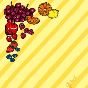 fruity skirt design