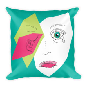 sick face pillow