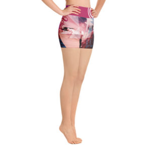 pink water shorts